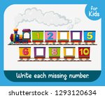 write each missing number... | Shutterstock .eps vector #1293120634