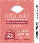 baby shower girl little lady... | Shutterstock .eps vector #129312239