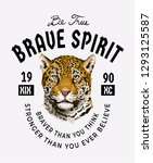 typography slogan with leopard... | Shutterstock .eps vector #1293125587