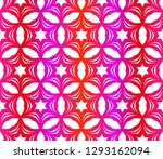 red vector layout with floral... | Shutterstock .eps vector #1293162094