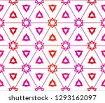 red vector layout with floral... | Shutterstock .eps vector #1293162097