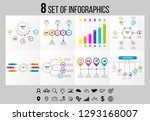 set of 8 infographics elements... | Shutterstock .eps vector #1293168007