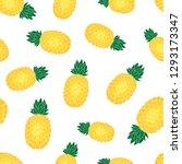 pineapple seamless pattern... | Shutterstock .eps vector #1293173347