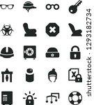 solid black vector icon set  ... | Shutterstock .eps vector #1293182734