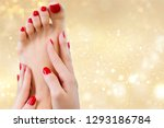 beautiful female legs with red... | Shutterstock . vector #1293186784