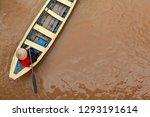 vietnamese old woman on... | Shutterstock . vector #1293191614