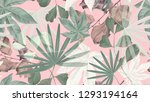 botanical seamless pattern ... | Shutterstock .eps vector #1293194164