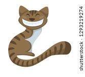 cheshire cat alice in... | Shutterstock .eps vector #1293219274