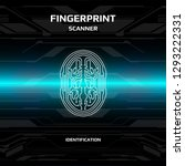 futuristic fingerprint light...