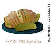 potato bbq vector illustration... | Shutterstock .eps vector #1293222751