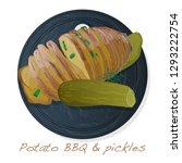 potato bbq vector illustration... | Shutterstock .eps vector #1293222754