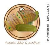potato bbq vector illustration... | Shutterstock .eps vector #1293222757
