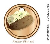 potato bbq vector illustration... | Shutterstock .eps vector #1293222781