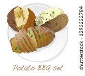 potato bbq vector illustration... | Shutterstock .eps vector #1293222784