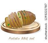 potato bbq vector illustration... | Shutterstock .eps vector #1293222787
