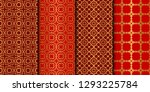 set of seamless pattern with... | Shutterstock .eps vector #1293225784