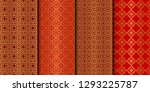 set of seamless pattern with... | Shutterstock .eps vector #1293225787