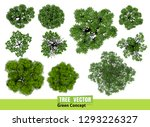 Stock vector trees top view for landscape vector illustration 1293226327