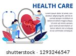heart care concept in flat... | Shutterstock .eps vector #1293246547