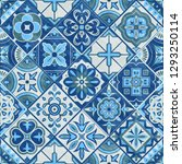 seamless romb patchwork tile in ... | Shutterstock .eps vector #1293250114