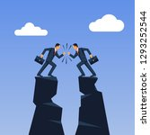 business conflict concept.... | Shutterstock .eps vector #1293252544