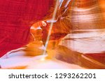 antelope canyon is a slot...   Shutterstock . vector #1293262201