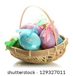 Bright Easter Eggs With Bows I...