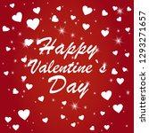 beautiful hearts falling on... | Shutterstock .eps vector #1293271657