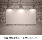 banner on wall   Shutterstock . vector #129327371