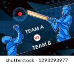 vector design of batsman player ... | Shutterstock .eps vector #1293293977