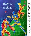 vector design of batsman player ... | Shutterstock .eps vector #1293294031