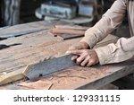 carpenter working on