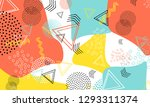 pop art color background.... | Shutterstock .eps vector #1293311374
