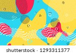 abstract dots background.... | Shutterstock .eps vector #1293311377