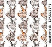 seamless pattern with hand... | Shutterstock .eps vector #1293319171