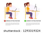 vector poster wrong and correct ... | Shutterstock .eps vector #1293319324