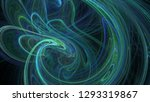 fantasy chaotic colorful... | Shutterstock . vector #1293319867