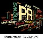 public relations concept in... | Shutterstock . vector #129334391