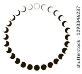 phases of the moon astronomy... | Shutterstock .eps vector #1293346237