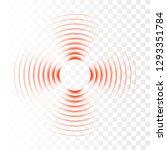 wave symbol. sound wave or... | Shutterstock .eps vector #1293351784