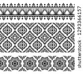 indian ethnic seamless pattern... | Shutterstock .eps vector #1293366157