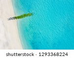 sand beach aerial  top view of... | Shutterstock . vector #1293368224