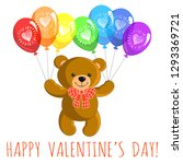 valentine's day greeting card.... | Shutterstock .eps vector #1293369721