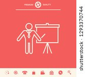 presentation sign   line icon.... | Shutterstock .eps vector #1293370744