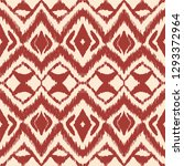 ikat seamless pattern. vector...   Shutterstock .eps vector #1293372964
