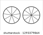 fraction pie divided into... | Shutterstock .eps vector #1293379864
