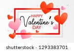 happy valentine's day greeting... | Shutterstock .eps vector #1293383701