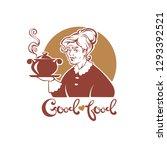 good food  vector portrait of... | Shutterstock .eps vector #1293392521