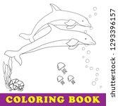 sea coloring book for children. ... | Shutterstock .eps vector #1293396157