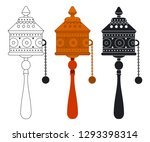 tibetan prayer wheel vector... | Shutterstock .eps vector #1293398314